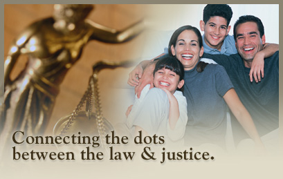 Connecting the dots between the law & justice.